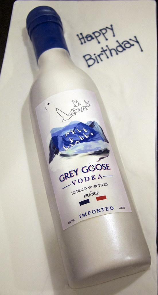 Enjoyable Grey Goose Vodka Bottle Cake A Laying Down Grey Goose Vodk Flickr Personalised Birthday Cards Paralily Jamesorg