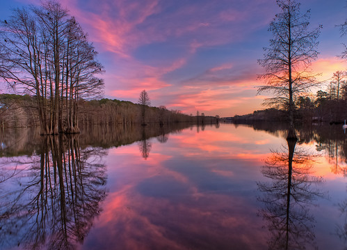 pink trees friends sky bird colors river mirror evening virginia nikon holidays flickr 20mm virginiabeach timer hdr interval velbon swampy lightoom d700
