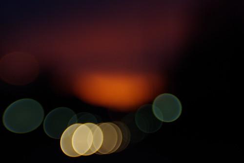 morning orange blur lensbaby sunrise lights blurry driving purple headlights lampposts sooc lensbabycomposer