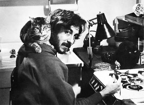 Me & cats sculpting fantasy miniatures in the early 80's