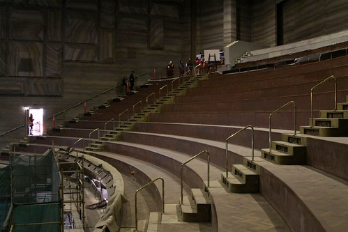 All of the seats stripped out of Hamer Hall