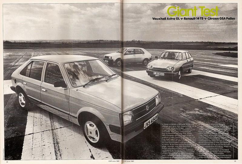 Citroen GSA Pallas - Renault 14 TS & Vauxhall Astra GL MK1 Group Road Test 1980 (1)