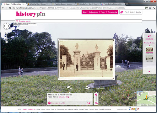 Mapping Vintage Photographs - screengrab of the Historypin website | by whatsthatpicture