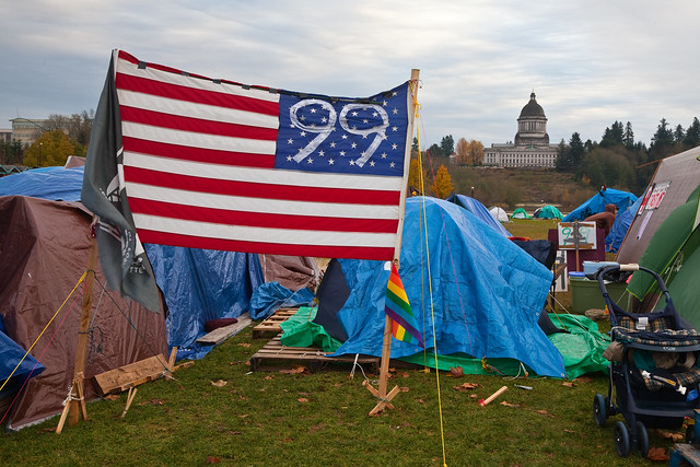 Occupy Olympia Encampment in Heritage Park