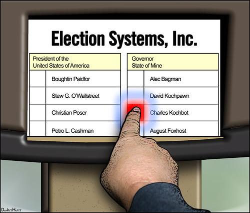 Voting Screen - Cartoon | by DonkeyHotey