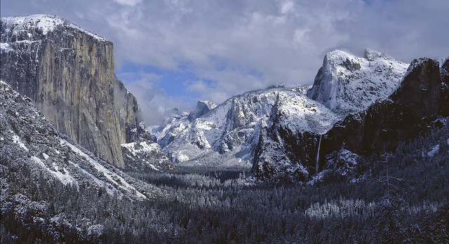 Yosemite Winter Storm - Tunnel View No.4 - Large Format Film