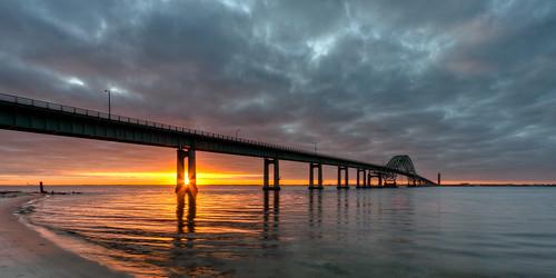 park bridge ny newyork sunrise canon li december state longisland hdr 1022 causeway xsi robertmoses 2011 captree photomatix efs1022 450d