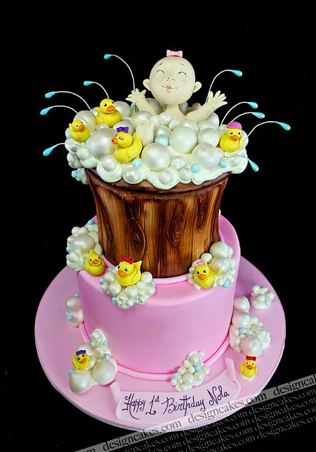 Stupendous Rubber Ducky 1St Birthday Cake Christine Pereira Flickr Funny Birthday Cards Online Inifofree Goldxyz