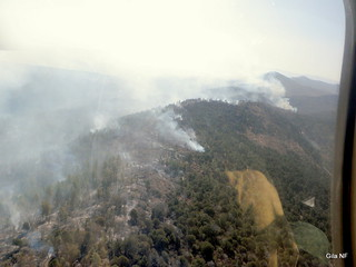 Miller Fire from the helicopter