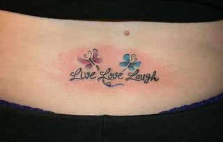 Live laugh love tattoo | by MikaylaLouise95