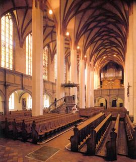 Leipzig - Thomaskirche Interior (Postcard)
