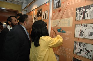 Inaugurating a special Gandhi-King exhibition 'Journeys toward Freedom' at the American Center, New Delhi