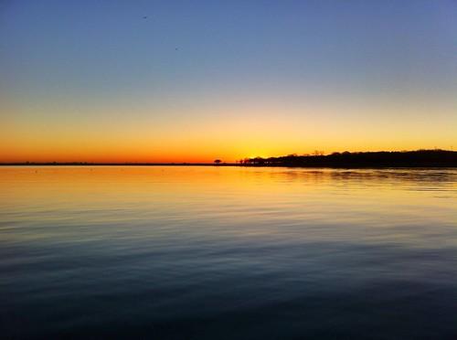 sky sun sunlight lake reflection nature water sunrise reflections waves texas