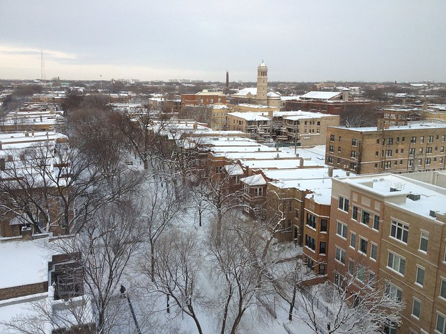 Snow in Rogers Park - 2