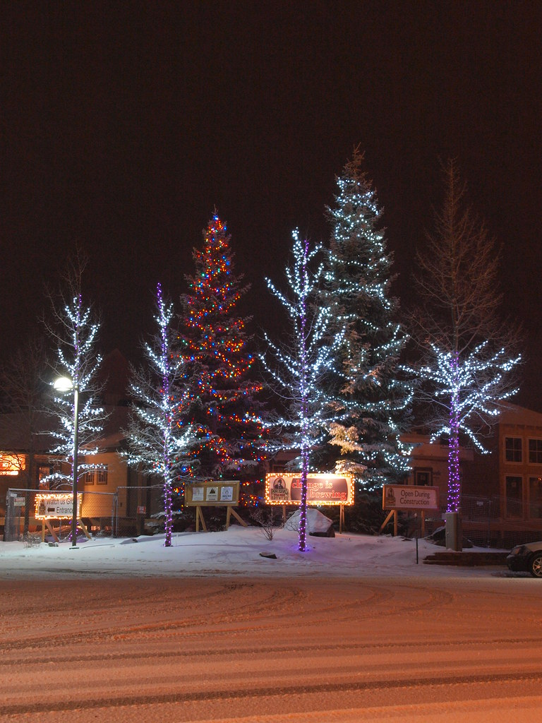 Christmas In Colorado Mountains.Dillon Colorado Old Mountain Town In The Winter Time Trees