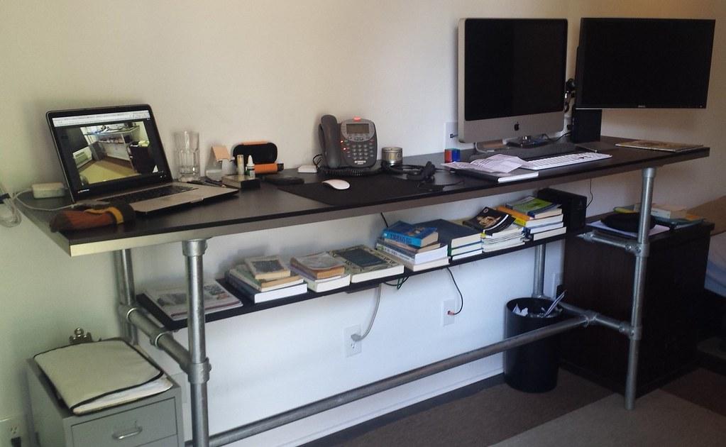 DIY Standing Desk   Standing Desk Built Using Pipe And Kee K ...