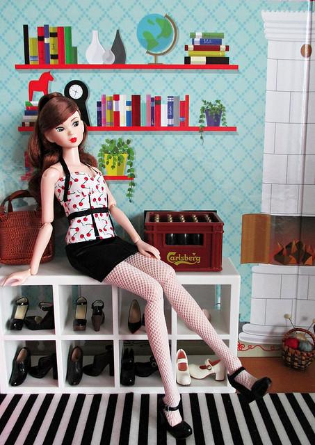 Ashley and her shoe shelf