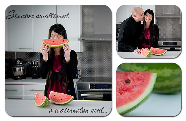 Someone swallowed a watermelon seed...