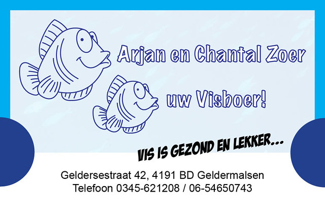 Business card for fish seller