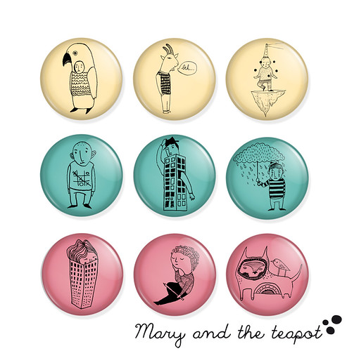 Mary and the teapot broaches | by Mary and the teapot