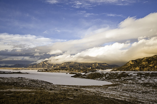 sunset water clouds landscape nikon colorado reservoir lakegeorge goldenhour d300 pikenationalforest elevenmile 1685mm thirtyninemileroad