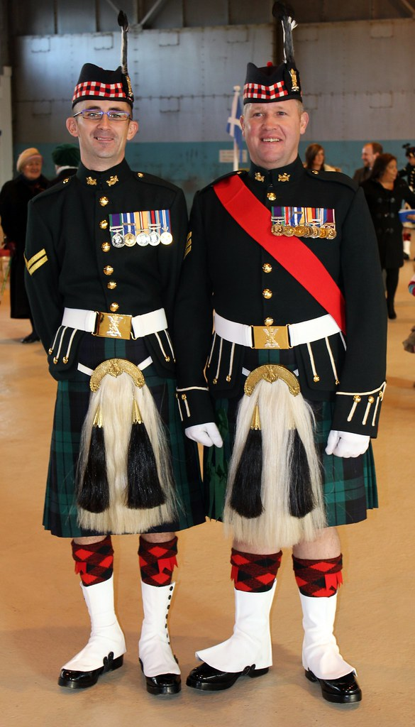Proud Highlanders.   Two happy Highlanders after the ...