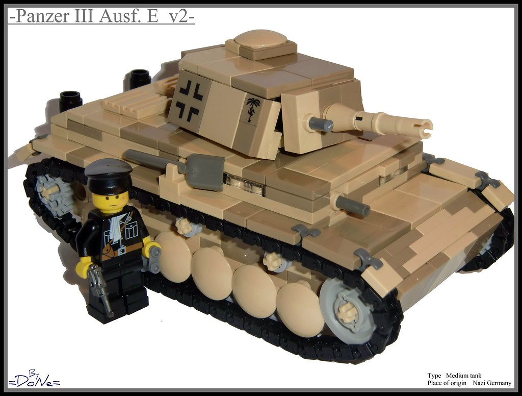 Lego ww2 -Panzer III Ausf  E Desert Camo- | So one more upda