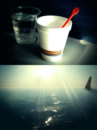 two sky usa sun toronto ontario canada cup water coffee boston plane canon river ma fly diptych earth flight wing cups tray soda aircanada alienskin ef24105l morningdewphotography t1i stirrstick