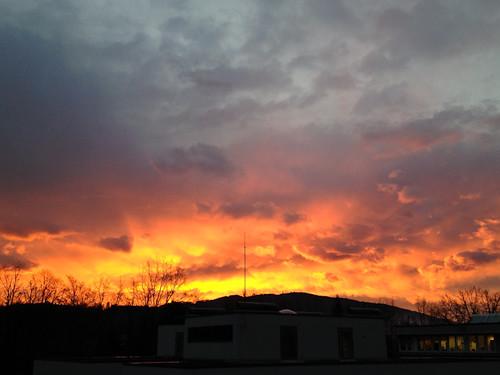 sunrise linz dawn sonnenaufgang