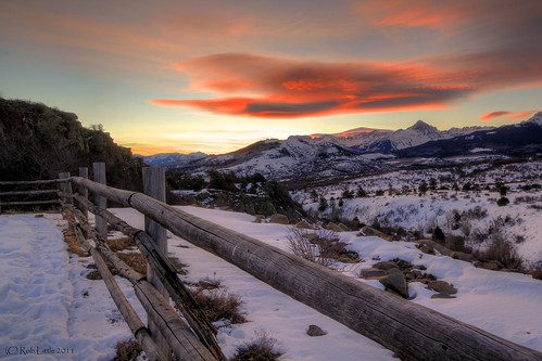 sunset mountains sunrise landscape colorado sanjuan telluride rockymountains ouray dallasdivide