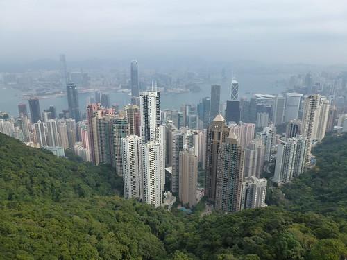Hong Kong - skyline vanaf Sky Terrace 428
