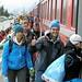 S-CHANF/SWITZERLAND, 13MAR11 - Tausende von Laeuferinnen und Laeufern muessen nach dem Engadin Skimarathon mit Sonderzuegen der Rhaetischen Bahn wieder Richtung Chur oder Vereina transportiert werden.  Impression vom Zielraum des 43. Engadin Skimarathon am Sonntag, 13. Maerz 2011 in S-chanf.  Impression of the 43. Engadin Skimarathon to S-chanf/Switzerland on Sunday, March 13, 2011.  swiss-image.ch/Photo by Andy Mettler, foto: www.swiss-image.ch