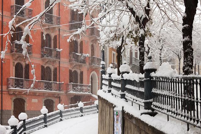 Pratola Peligna, prima nevicata