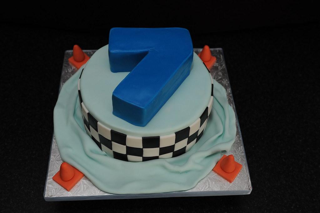 Strange All Sizes Birthday Cake For A 7 Year Old Boy Flickr Photo Funny Birthday Cards Online Hetedamsfinfo