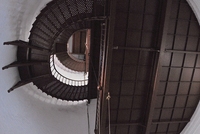 Piedras Blancas Lighthouse stairs