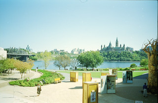 Looking over to the Parliament Buildings