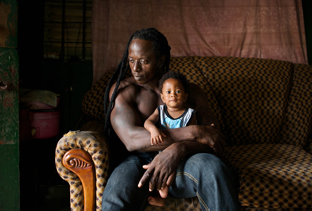 Japoo and his son, Blessed - Lomé