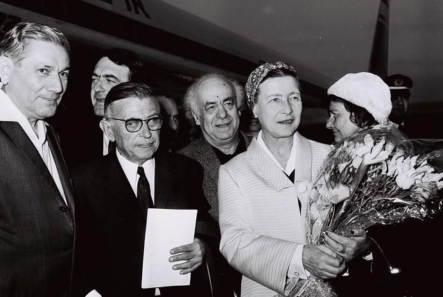 Jean-Paul Sartre, Simone de Beauvoir, Avraham Shlonsky and Leah Goldberg