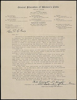 Petition from the State Federation of Pennsylvania Women for an investigation into the industrial conditions of women, 04/05/1906