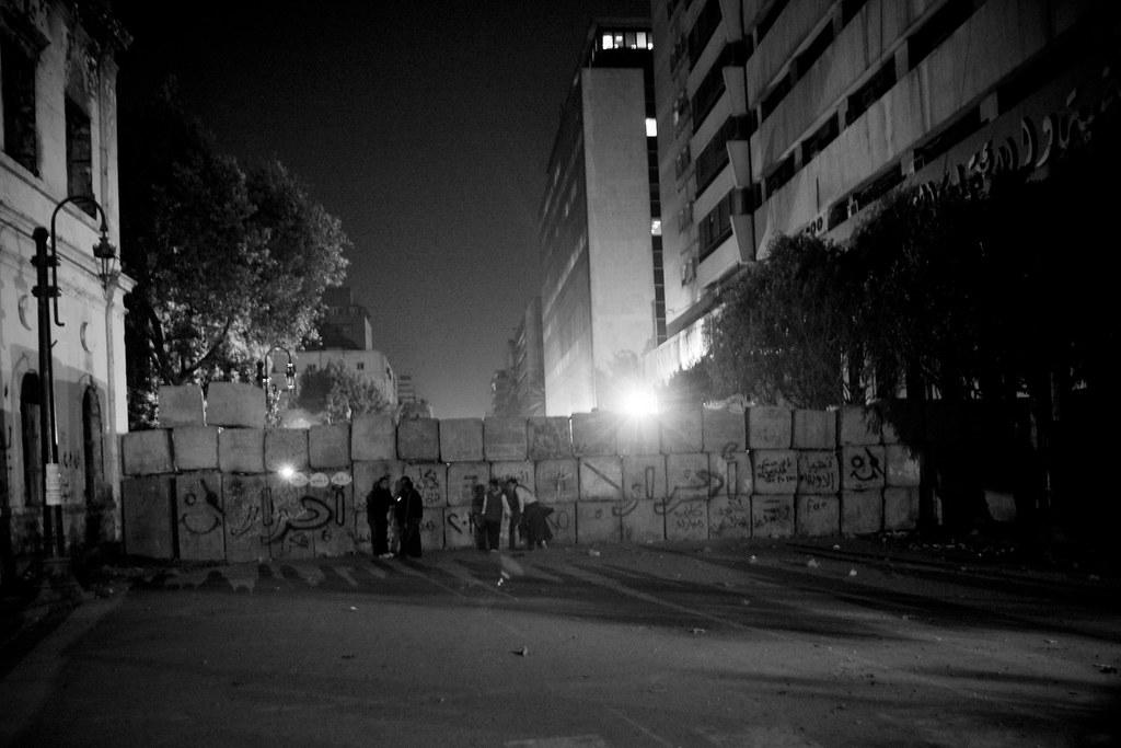 حائط جداري بناه الجيش في شارع القصر العيني