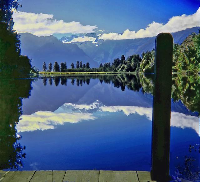 Lake Matheson, Westland National Park, West Coast, Neuseeland