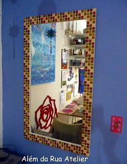 Espelho de mosaico   by ALÉM DA RUA ATELIER/Veronica Kraemer