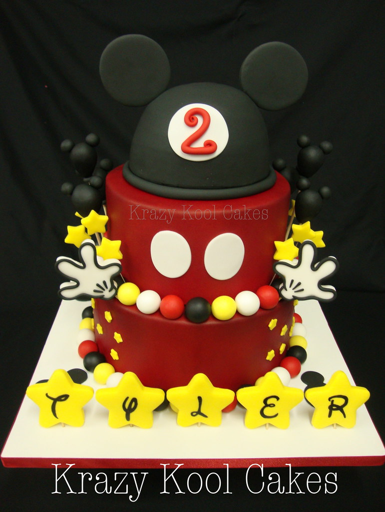 Mickey Mouse Birthday Cake by Krazy Kool Cakes in El Paso,… | Flickr