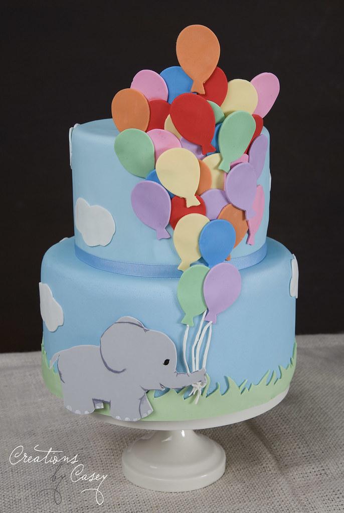 Incredible Elephant Birthday Cake Caseyd1102 Flickr Funny Birthday Cards Online Overcheapnameinfo