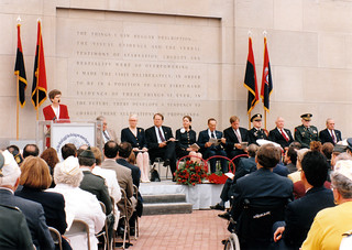 1994 - Jim (under flags on right), Holocaust Museum Ceremony