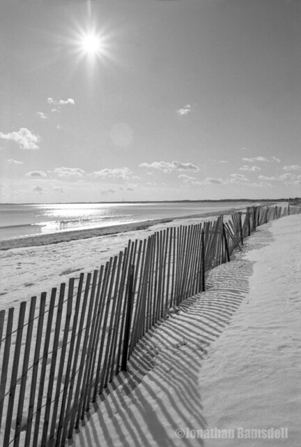 Snow Fence, Old Orchard Beach, Maine