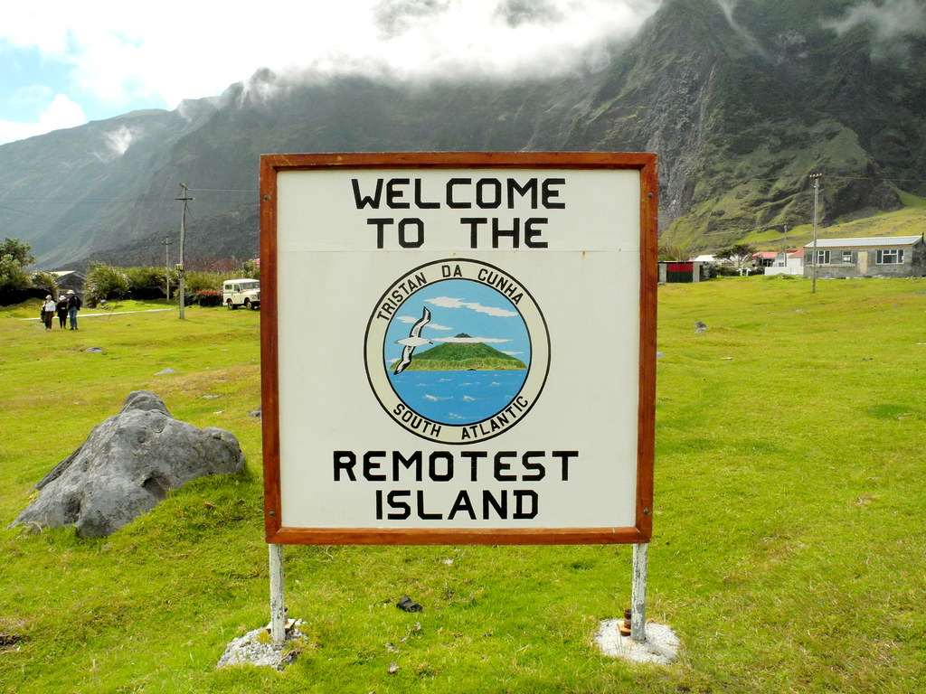 Tristan da Cunha   This sign is always brought out of storag…   Flickr