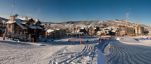 winter vacation panorama holiday colorado skiing steamboat