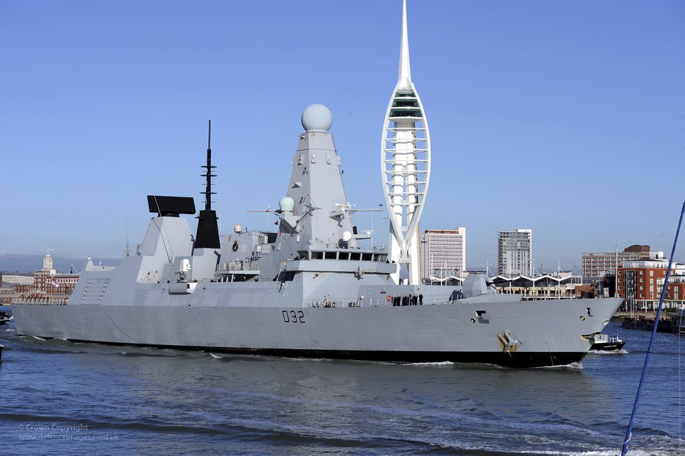 Type 45 Destroyer HMS Daring Leaves Portsmouth for First Operational Deployment