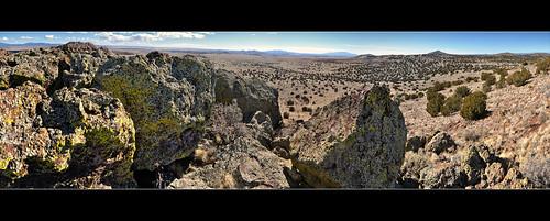 panorama newmexico santafe plateau boulders lichen mesa labajada cajadelrio tetillapeak tetillahole